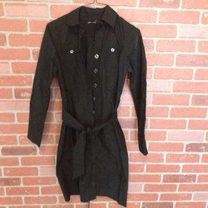 The Limited Black Button Down Dress/Long Jacket